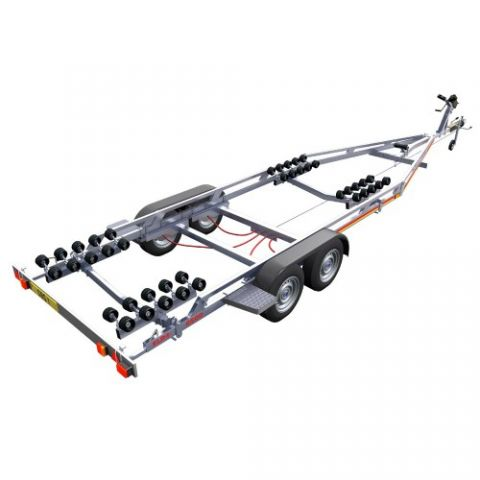 SBS R4/2600EL Twin Axle Multi Roller Boat Trailer