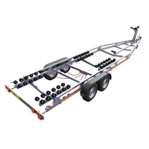 SBS R4/3000EL Twin Axle Multi Roller Boat Trailer