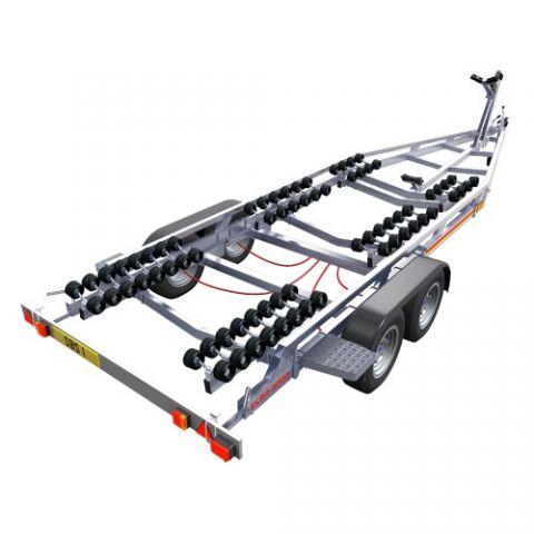 SBS R4/3500EL Twin Axle Multi Roller Boat Trailer