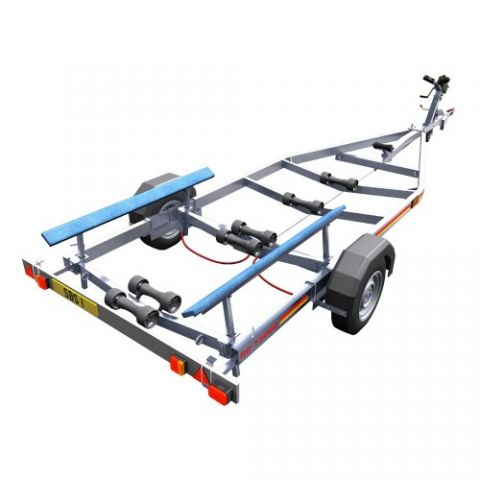 SBS R2/1300B Single Axle Bunk Boat Trailer