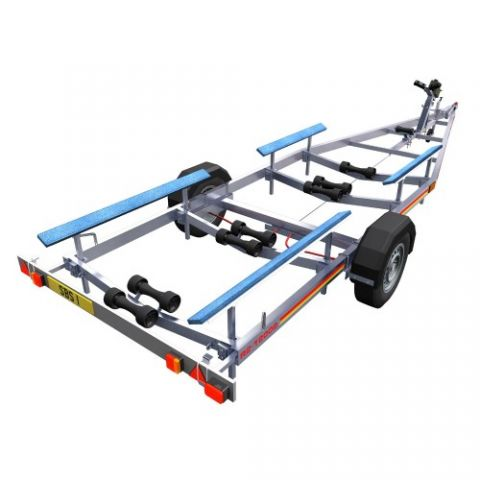 SBS R2/1900B Single Axle Bunk Boat Trailer