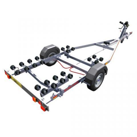 SBS R2/1300EL Single Axle Multi Roller Boat Trailer