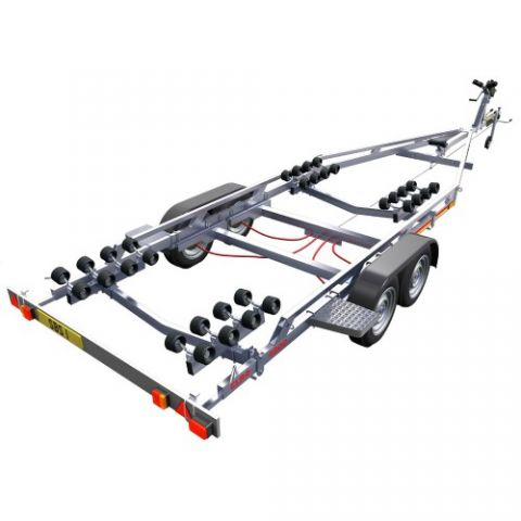 SBS R4/2000EL Twin Axle Multi Roller Boat Trailer